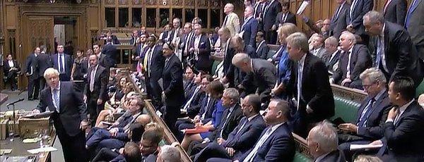 Boris first parliament appearance, July 25 2019