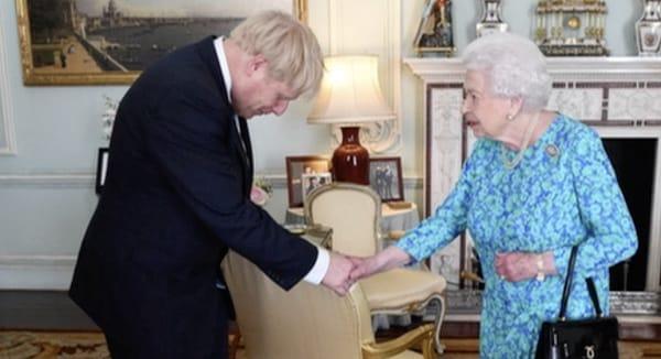 Boris meets the queen, July 24 2019