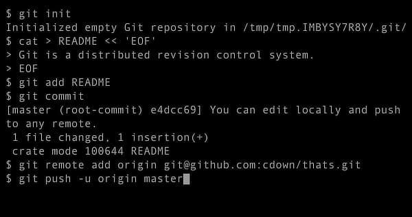 Git session