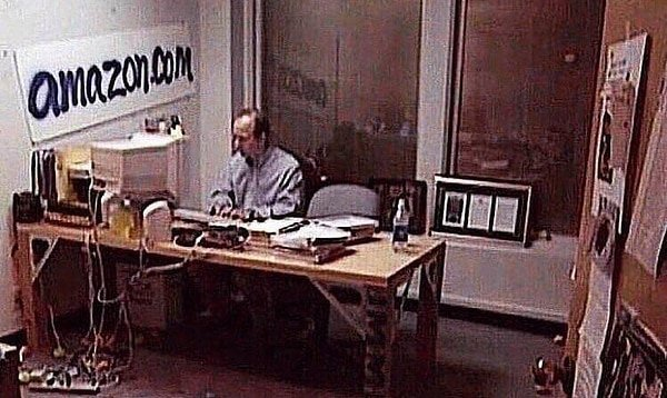 Jeff Bezos Amazon office in 1999