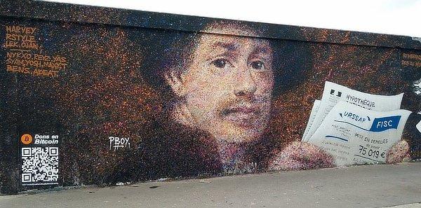 Bitcoin street art