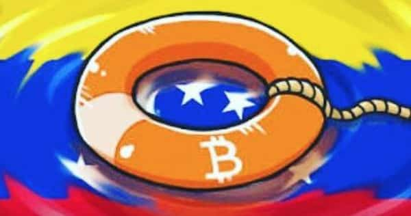 Bitcoin Venezuela abstract fan art