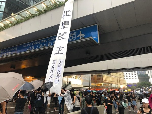 Hong Kong democracy protests, August 2019