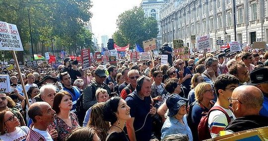 London protests against parliament suspension, August 31 2019