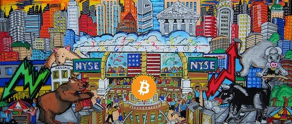 Bitcoin, stocks, abstract