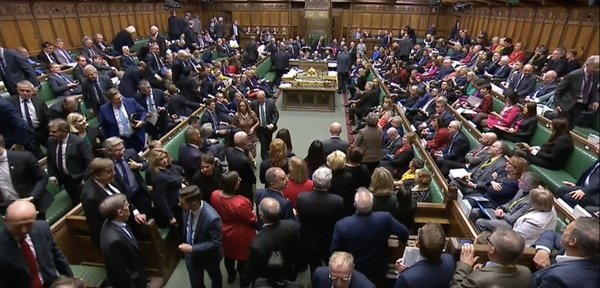 Conservatives walk out after Brexit amendment, Oct 2019