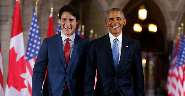 Trudeau backed by Obama