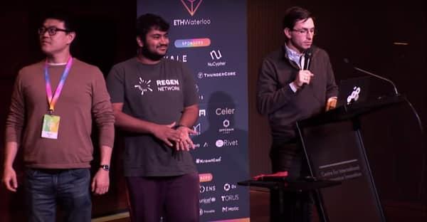ETHWaterloo Hackathon Sheetcoin Winners, Nov 2019