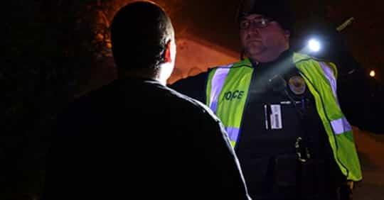 Bitcoin book police checkpoint Brentwood, California, USA