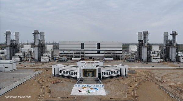 Uzbekistan power plant, Jan 2020
