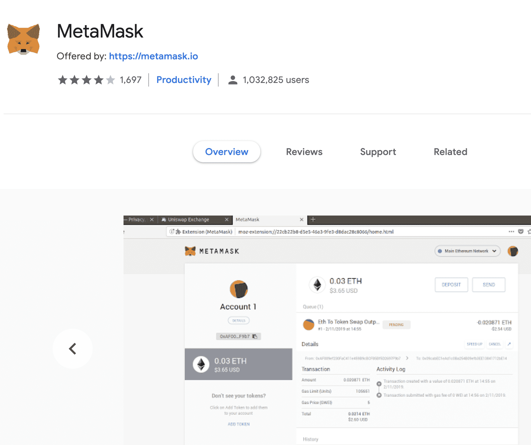 Metamask crosses one million users, Feb 2020