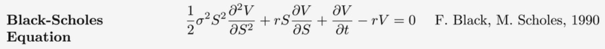 The options formula, Feb 2020