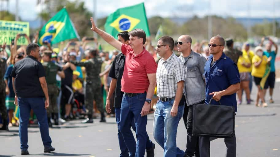 That's the Brazilian president? Thought he looked like Hitler