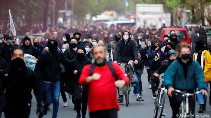 Berlin protests, May 1st 2020