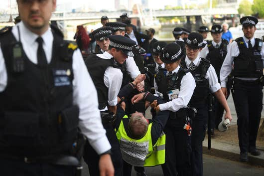 Fascist London police, May 2020