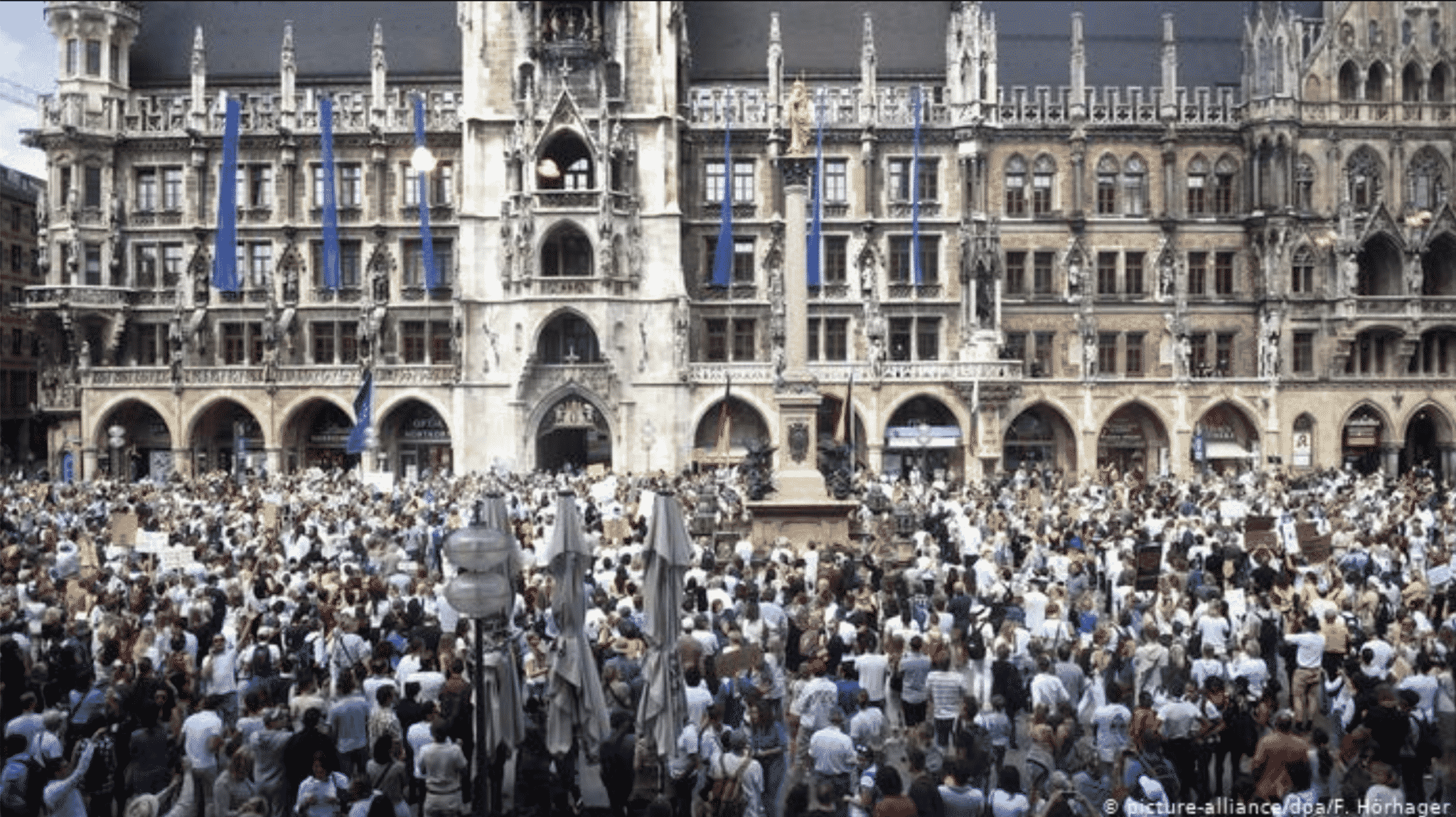 Munich town hall, Saturday May 9 2020
