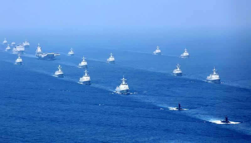 Chinese navy, April 2018