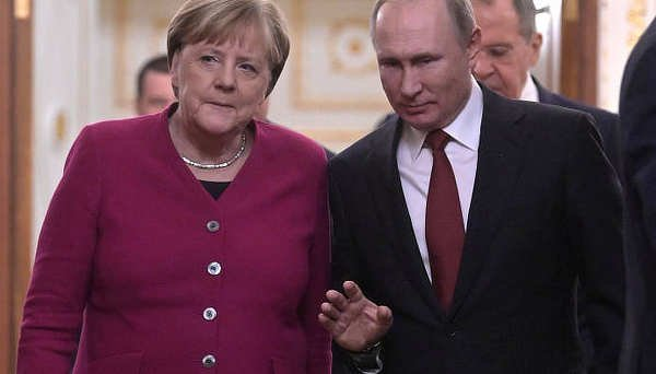 Merkel with Putin, January 2020