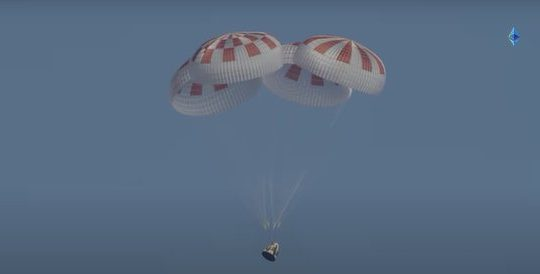 Astronauts splashdown, NASA, SpaceX, Aug 2 2020