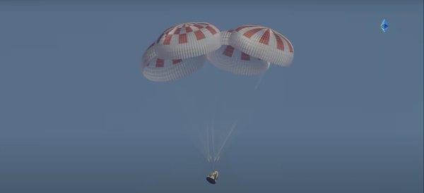 Astronauts splashdown, NASA, SpaceX, Aug 2 2020