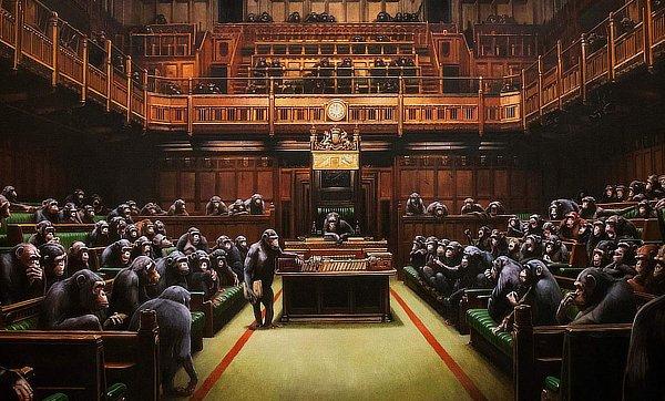 Banksy parliament 2020