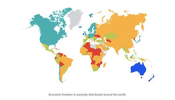 World economic freedom, 2020
