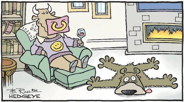 Bull relaxing, bear rekt.