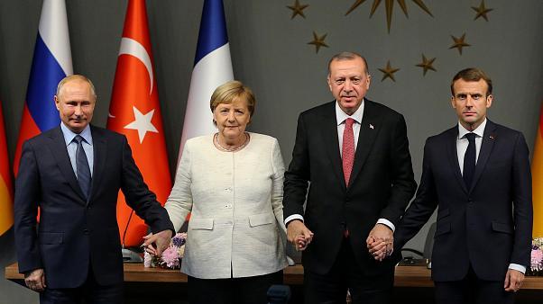 Macron, Merkle, Putin, Erdogan