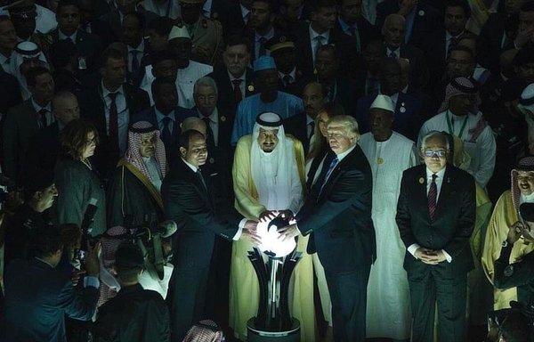 Trump Saudi orb