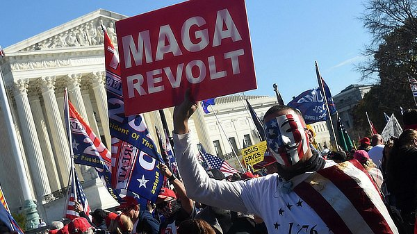 Trump supporters protest the election
