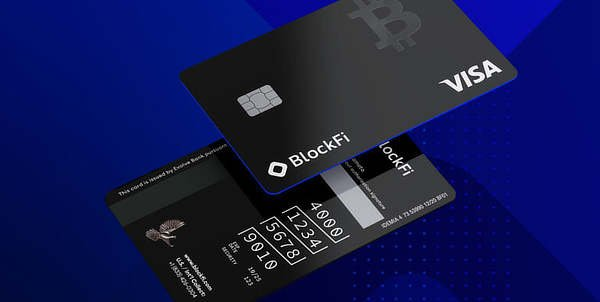BlockFi bitcoin rewards card, Dec 2020