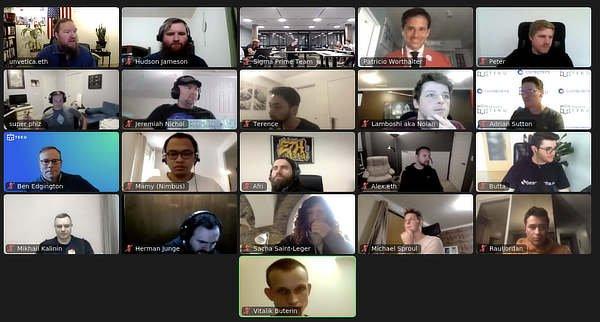 Ethereum 2.0 launch participants, Dec 1 2020