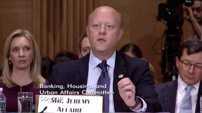 Jeremy Allaire testifying before senate in July 2019
