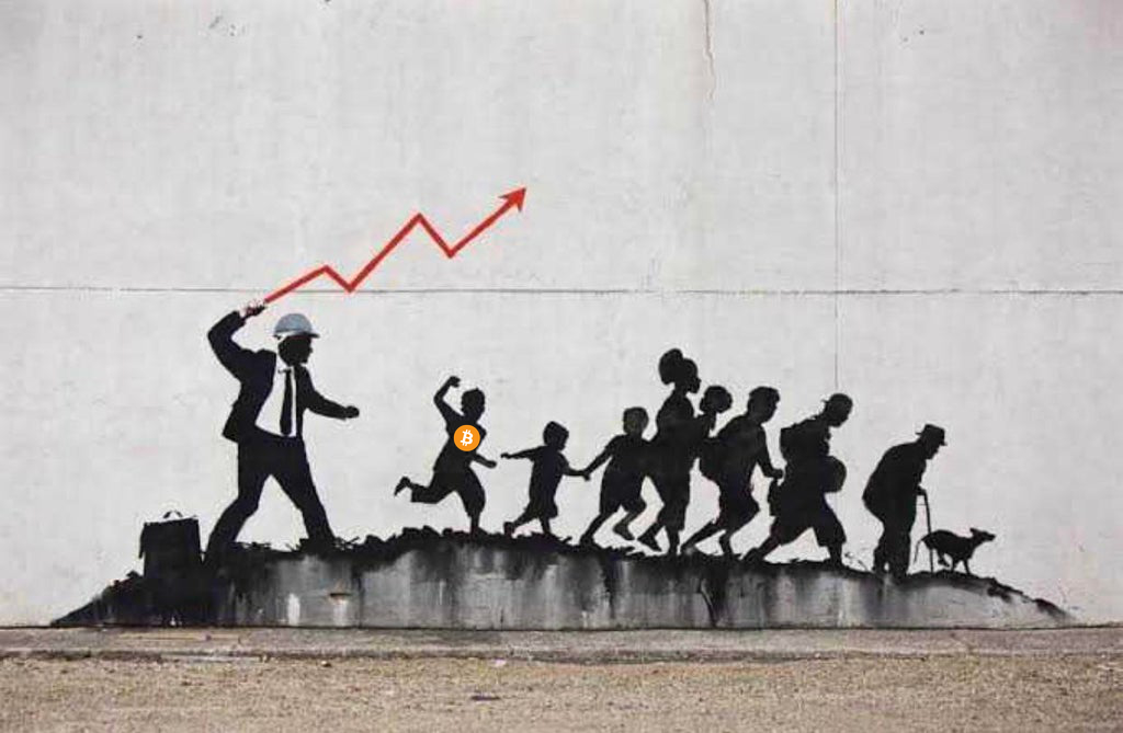 Banksy stock market bitcoin, Jan 2021