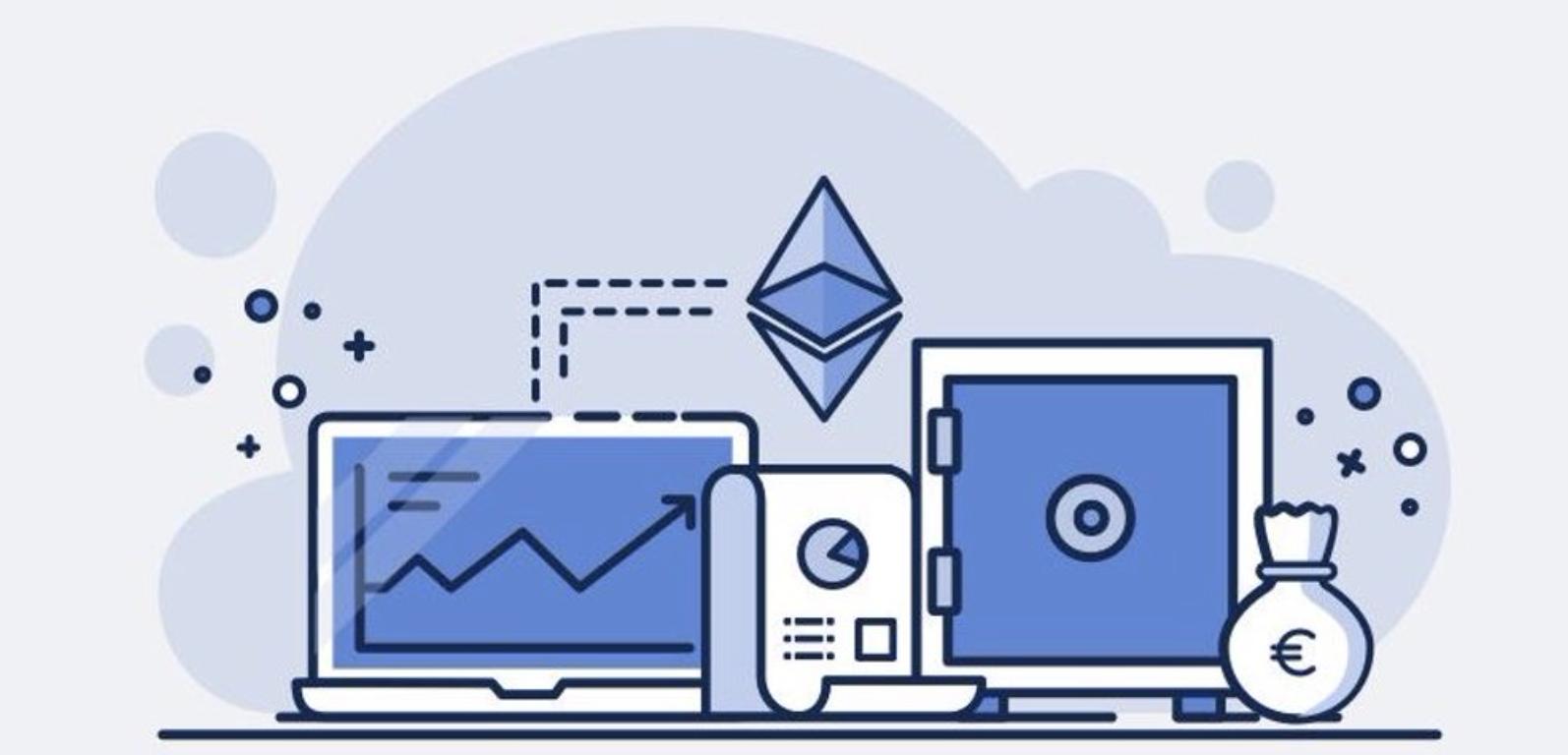 Ethereum, the world computer money code art work.