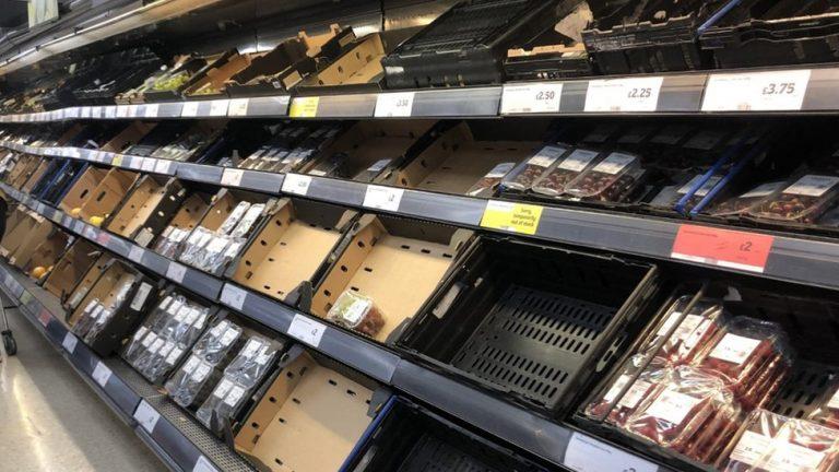 Food shortages UK, Jan 2021