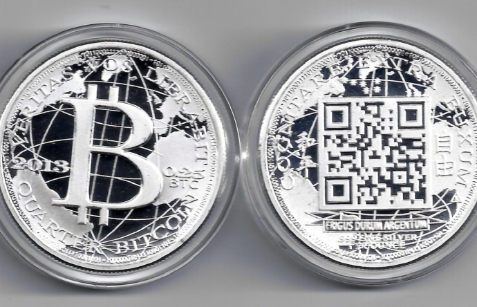 Agora silver bitcoin actual coin from 2013