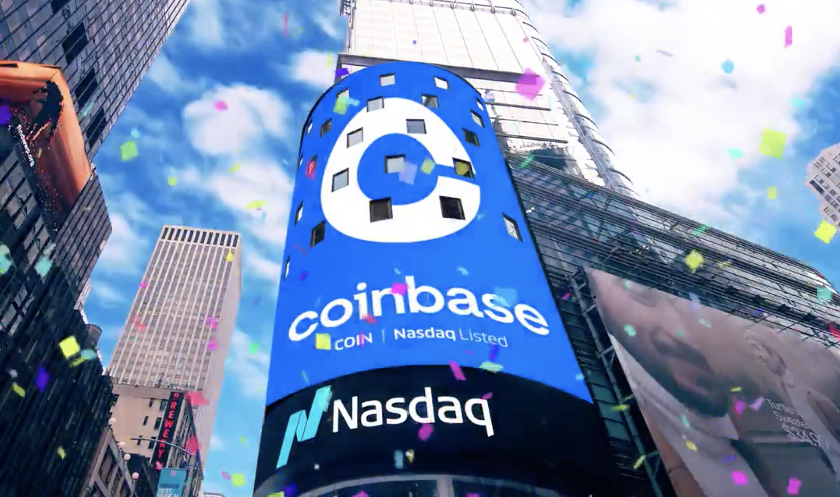 Coinbase Nasdaq Listing, April 2021