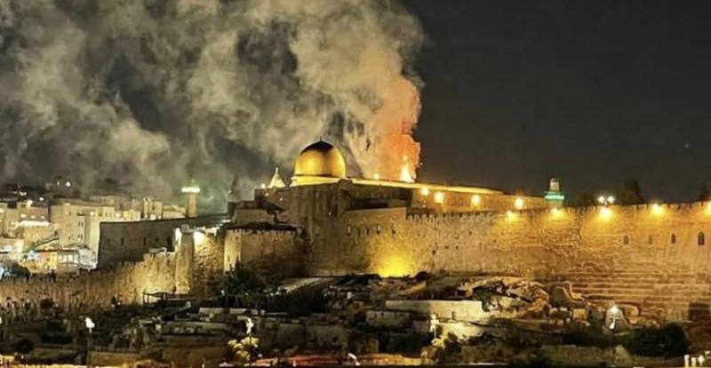 Al-aqsa mosque fire, May 2021