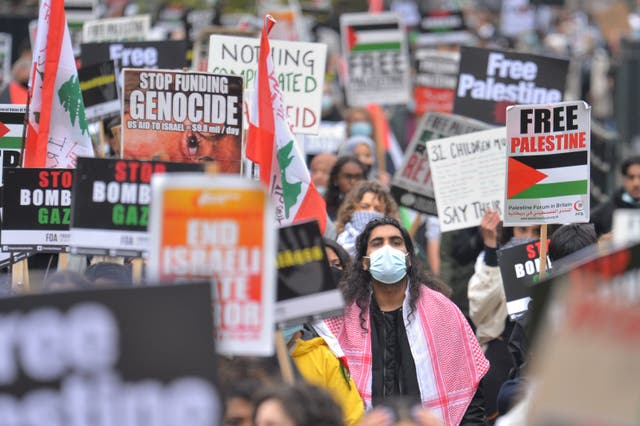Protests for Palestine in London, May 15 2021