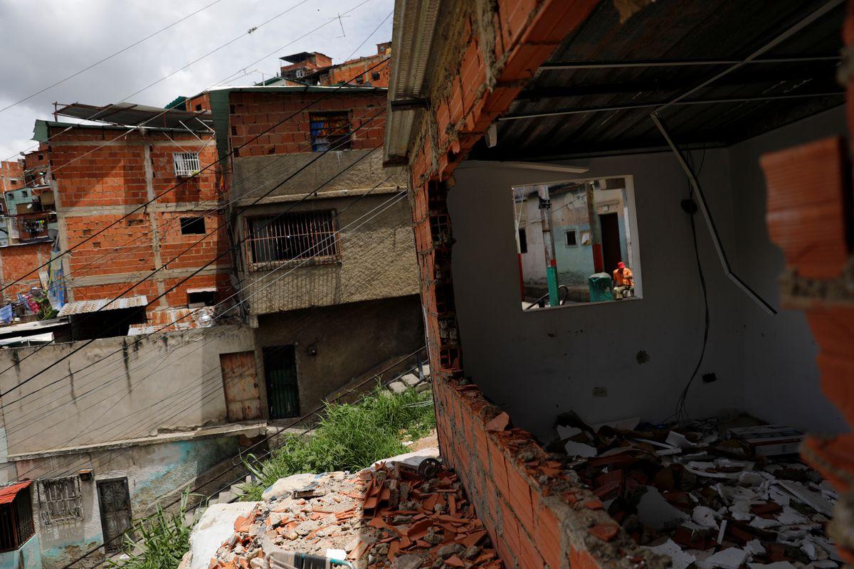 Venezuela gang former checkpoint, July 2021