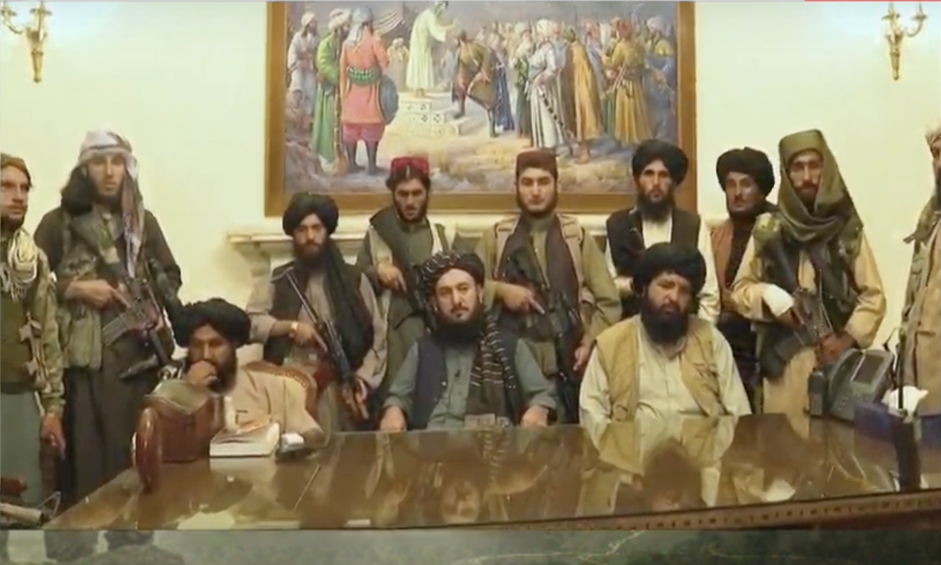 Talibans at the Presidential Palace, Aug 2021