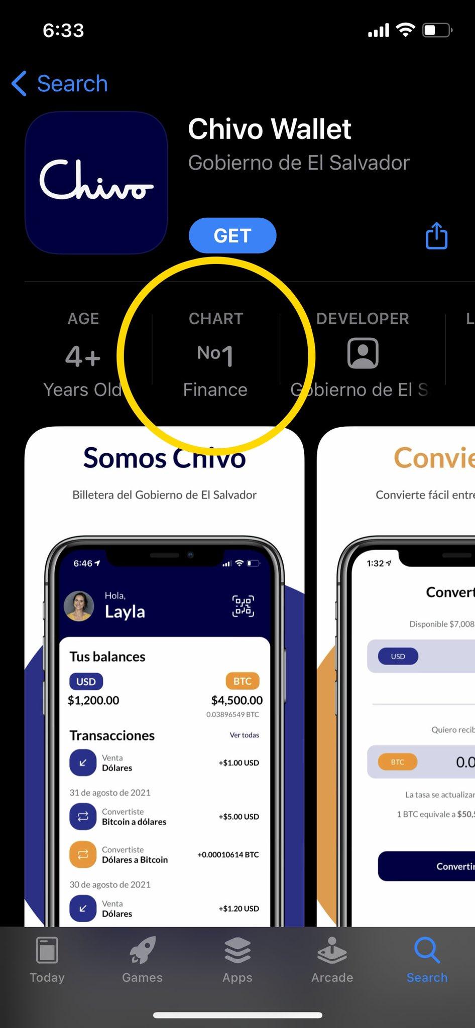 Chivo tops App Store, Sep 2021