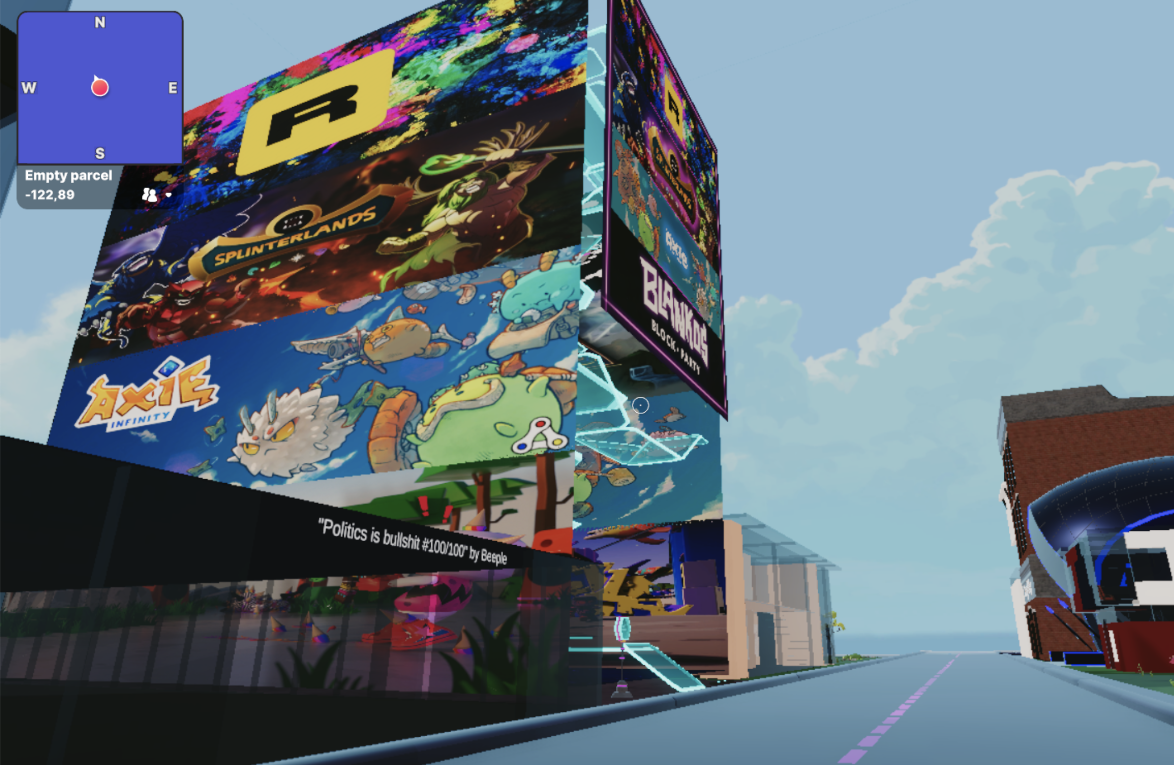 The Galleries High Street in Decentraland, Sep 2021