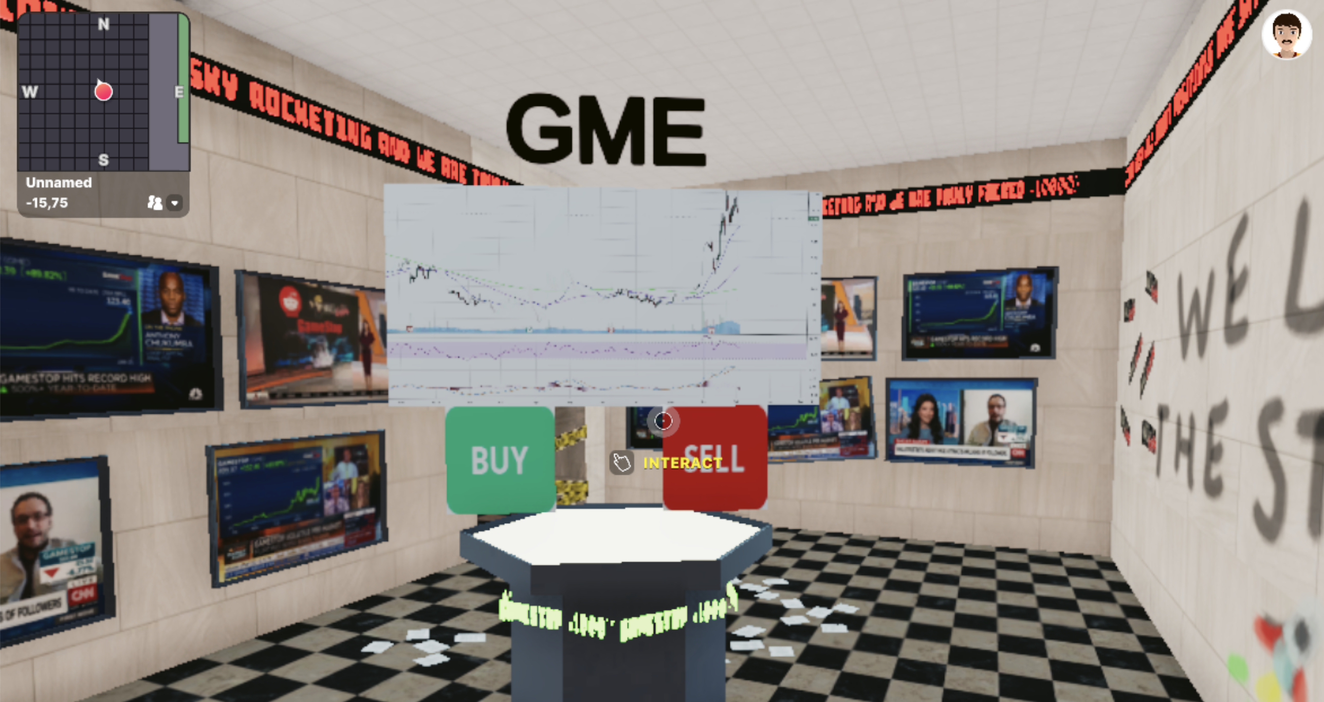 GME on Decentraland, Oct 2021