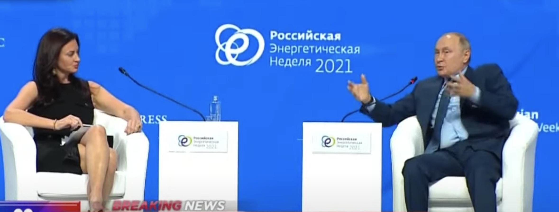 Putin at Russia Energy Week 2021